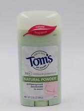 NATURALLY DRY Antiperspirant, Tom's of Maine, 2.25 oz Natural Powder Brand New