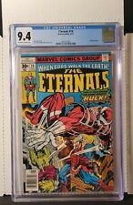 Eternals #14 CGC 9.4 1977 Classic Jack Kirby Cover. 1st App Cosmic-Hulk Robot