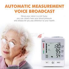Portable Auto Digital Voice Blood Pressure Monitor Health Care USB Heart Rate