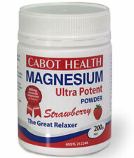 CABOT HEALTH Magnesium Ultra potent powder 200g Strawberry Sandra cramps relax