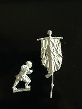 Warhammer Lord of The Rings LOTR - Morannon Orc Commanders Banner Metal OOP