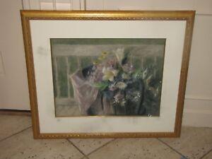 HOBSON PITTMAN Original Pastel Painting Flowers