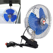 "8"" 12V Portable Vehicle Oscillating Car Auto Cooling Fan Cigarette Lighter Plug"