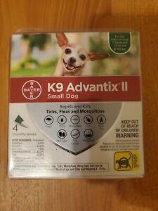 K9 Advantix II flea control and treatment for Small Dog 4-10 lbs 4 Pack