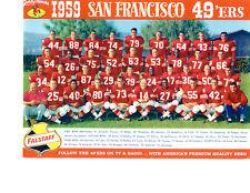 SAN FRANCISCO 49'ERS 8X10 TEAM PHOTOS LOT OF 4  1959 1960 1961 1962 FOOTBALL