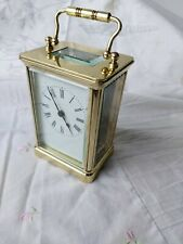 Vintage Reloj de carro de latón SF o jf-no Funciona