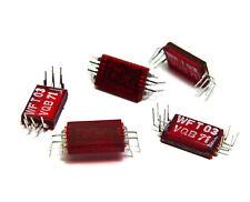 5x LED Digit 7-Segment für DDR Funk- und Meßtechnik Display, WFT03 VQB71, NOS