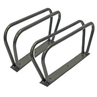 2 BICYCLE BIKE WALL FLOOR MOUNT MOUNTED STAND RACK HOLDER STORAGE SHED NEW S13