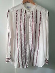 Brora Silk Blouse Size 10 Hidden Button Up Long Sleeve Casual Career Smart