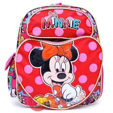 """Disney Junior Minnie Mouse School Backpack 12"""" Medium Bag - Bowtique Pink Hearts"""