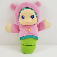 Playskool Musical Light Up Lullaby Glow Worm Pink Green Moon Plush 2011 Works