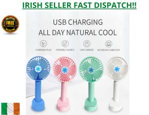 Handheld Desk Fan Portable Design USB Charging Long Battery