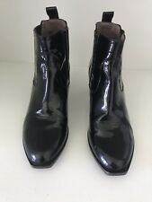 robert clergerie patent leather ankle  boot size 6.5