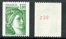 STAMP TIMBRE FRANCE NEUF N° 1981Aa ** TYPE SABINE ROULETTE N° ROUGE AU DOS