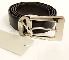 NEW BEAUTIFUL MEN'S FERRE Milano BELT REVERSIBLE (BLACK AND BROWN) LEATHER