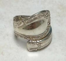 ~ Sz 6 ~ 11.4g~ 5-A1036 Sterling Silver Handcrafted Southern Colonial Spoon Ring