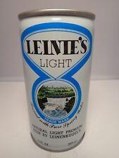 LEINIES LIGHT CRIMPED STEEL PULL TAB BEER CAN #87-19  LEINENKUGELS,  WISCONSIN