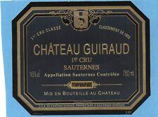 SAUTERNES 1ER GCC VIEILLE ETIQUETTE CHATEAU GUIRAUD 1989 RARE    §09/03/18§