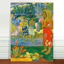 "Paul Gaugin Village Women ~ FINE ART CANVAS PRINT 32x24"""