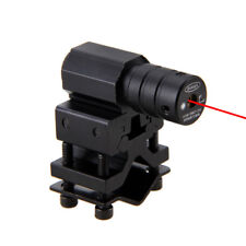 Adjustable Picatinny/Weaver Barrel Mount 655nm Red Laser Sight Scope Light Lamp