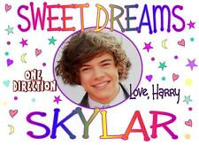 """ONE DIRECTION's HARRY Personalized PILLOWCASE """"Sweet Dreams"""" Any NAME Great Gift"""