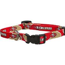 "NFL San Francisco 49ers, Premium Dog Collar (Medium 3/4"" x 14""-20"") NEW"