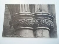 MELROSE ABBEY, Curly Green Capitol Vintage Postcard Franked+Stamped 1909  §B2283