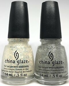 China Glaze Nail Polish Fairy Dust 551 + Luxe And Lush 1132 Holographic Glitter