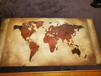"""Scroll Play mat / GripMat 24"""" x 48"""" Perfect for The LOTR, Cthulu, & other games!"""