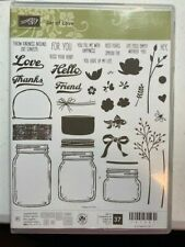 Stampin Up JAR OF LOVE stamp set & EVERYDAY JARS FRAMELITS DIES