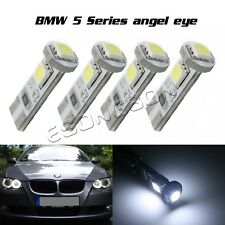 Error Free Angel Eyes LED Lights Bulbs Fits BMW 525i 530i 550i E60 Pre-LCI x 4