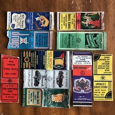 Lot Of 10 Vintage Antique Matchbook Covers