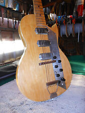 1960's K1963 Kay Value Leader Triple 3 Pickup Vintage Electric Guitar Natural