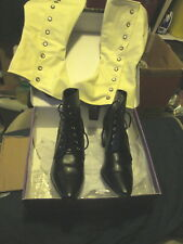 Funtasma VICTORIAN-35 Women's 2 Inch Heel Lace-Up Victorian Ankle Boot Size 9