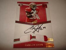 2017 Panini Pantheon Autograph Dual Patch CARLOS HYDE 15/15 On Card