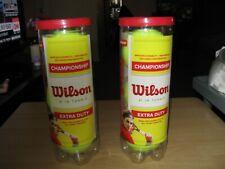 Wilson Tennis Balls 2 Cans (6 balls) Championship Balls Extra Duty New