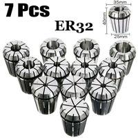 7pcs/set Metric ER11 ER16/ER20/ER25/ER32 Spring Collet SCNC Milling Lathe Chuck