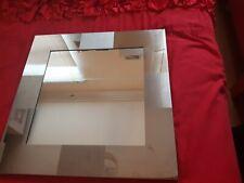 Homebase Silver square mirror, 38cm x 38cm