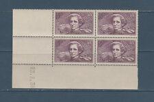 timbre France bloc de 4 coin daté   chômeurs  Hector Berlioz    num: 382  **