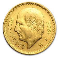 1906 Mexico Gold 10 Pesos XF - SKU #85489