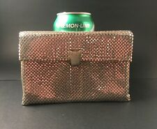 Whiting and Davis Silver Mesh Purse Handbag Clutch Makeup Bag Vintage