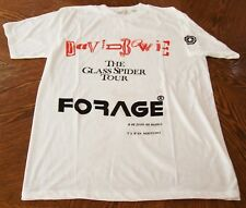 DAVID BOWIE WHITE T-SHIRT MADRID AND BARCELONA CONCERTS 'GLASS SPIDER' TOUR 1987