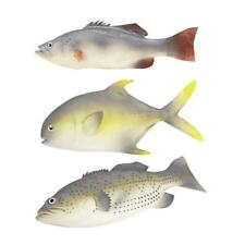 3PCS Simulated Fish Set Realistic Model Lifelike Short Mandarin Fish/Spotty/Bass