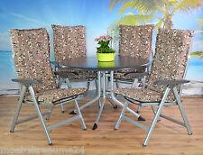 6 x Gartenpolster Auflagen Polster Kissen Sitzkissen für Hochlehner Gartenstuhl