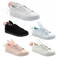 Gym & Training Shoes Lace Up Textile Trainers for Women