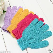 4 Pair Shower Exfoliating Wash Skin Spa Foam Bath Gloves Massage Loofah Scrubber