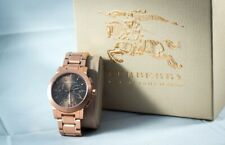 From NY!BURBERRY Unisex BU9353 Taupe Rose Gold Stainless Steel Chronograph Watch