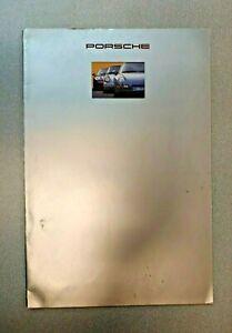 USED ORIGINAL GENUINE 1993 PORSCHE 911 968 928 SALES BROCHURE W TECH DATA SHEET
