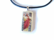 Buddy Christ Mini Domino Pendant with FREE Necklace