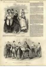 1848 GIALLO SEDIA CON ARAZZO nuovo modo di pagare i debiti precedenti Teatro Olimpico